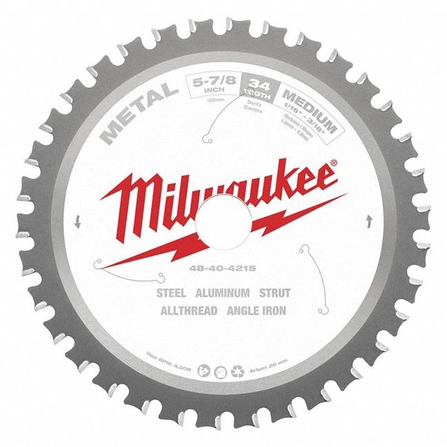 "Milwaukee 48-40-4215 5-7/8"" 34T Ferrous Metal Circular Saw Blade"