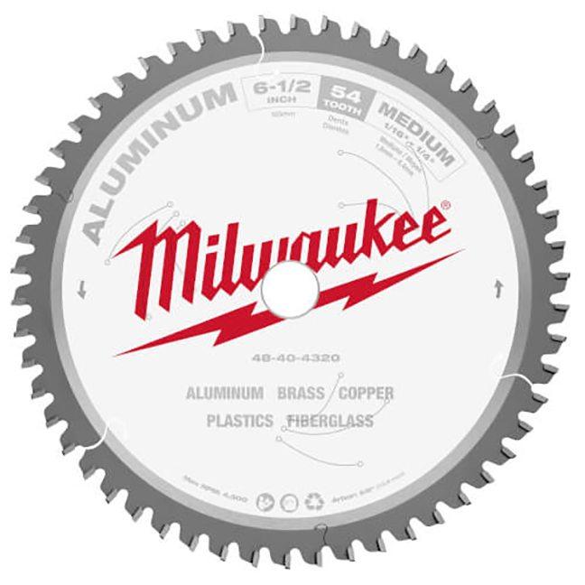 """Milwaukee 48-40-4320 6-1/2"""" 54T Aluminum Circular Saw Blade"""