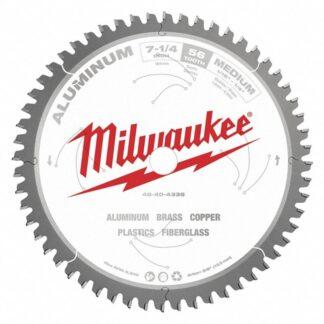 """Milwaukee 48-40-4335 7-1/4"""" 56T Aluminum Circular Saw Blade"""