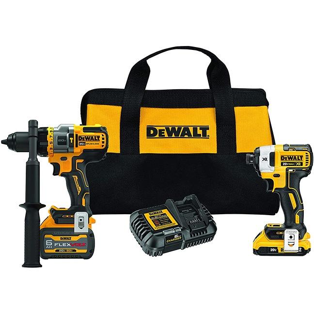 Dewalt DCK2100D1T1 20V Max Brushless 2-Tool Combo Kit with DCB606 & DCB203