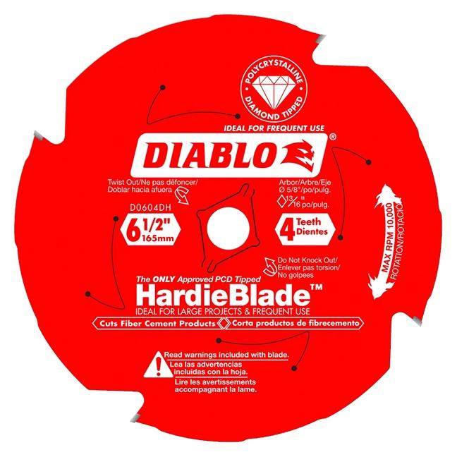 "Freud D0604DH DIABLO 6‑1/2"" x 4T Fiber Cement Circular Saw HardieBlade™"