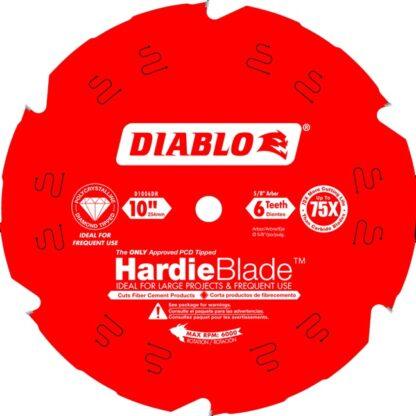 "Freud D1006DH DIABLO 10"" x 6T Fiber Cement Table/Miter Saw HardieBlade™"
