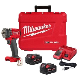 "Milwaukee 2855-22 M18 FUEL 1/2"" Compact Impact Wrench Kit - Friction Ring"