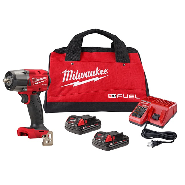 """Milwaukee 2960-22CT M18 FUEL 3/8"""" Mid-Torque Impact Wrench Kit - Friction Ring"""