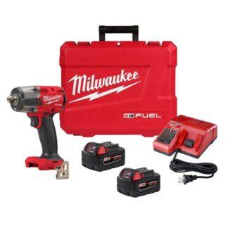 "Milwaukee 2962P-22 M18 FUEL 1/2"" Mid-Torque Impact Wrench Kit - Pin Detent"