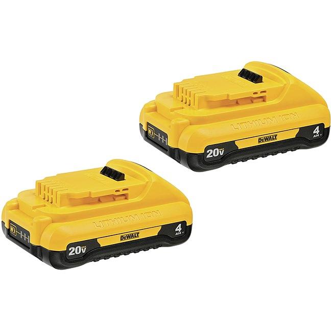 DeWalt DCB240-2 20V MAX 4Ah Compact Battery 2-Pack