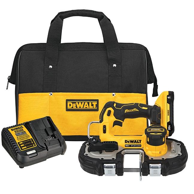 """DeWalt DCS377Q1 ATOMIC 20V MAX Brushless 1-3/4"""" Bandsaw Kit"""
