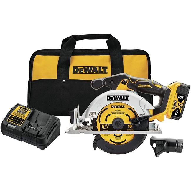 "DeWalt DCS565P1 20V MAX 6-1/2"" Brushless Circular Saw Kit"