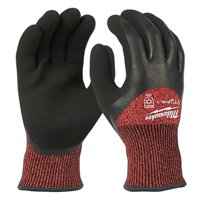 Milwaukee Cut Level 3 Winter Dipped Gloves