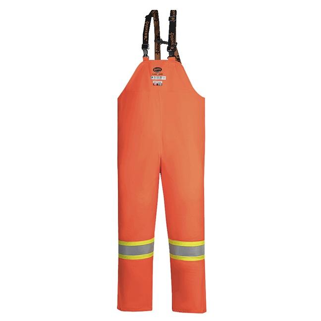 Pioneer 5882 V3520750 Hi-Viz FR ARC PU/Cotton Rain Bib Pants - Orange