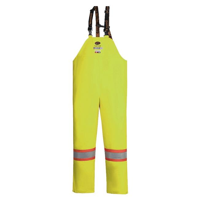 Pioneer 5883 V3520760 Hi-Viz FR ARC PU/Cotton Rain Bib Pants - Yellow