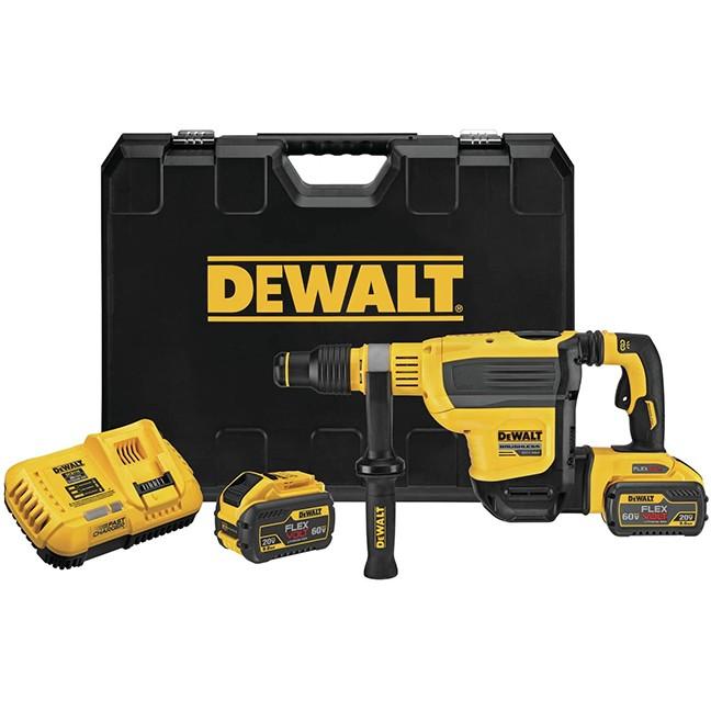 "DeWalt DCH614X2 60V MAX 1-3/4"" SDS MAX Brushless Combination Rotary Hammer Kit"