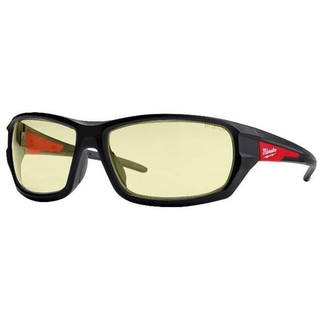 Milwaukee 48-73-2120 Performance Safety Glasses Yellow Fog-Free Lenses
