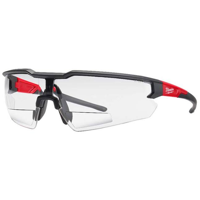 Milwaukee 48-73-2203 Safety Glasses +1.50 Magnified Clear Anti-Scratch Lenses - Polybag