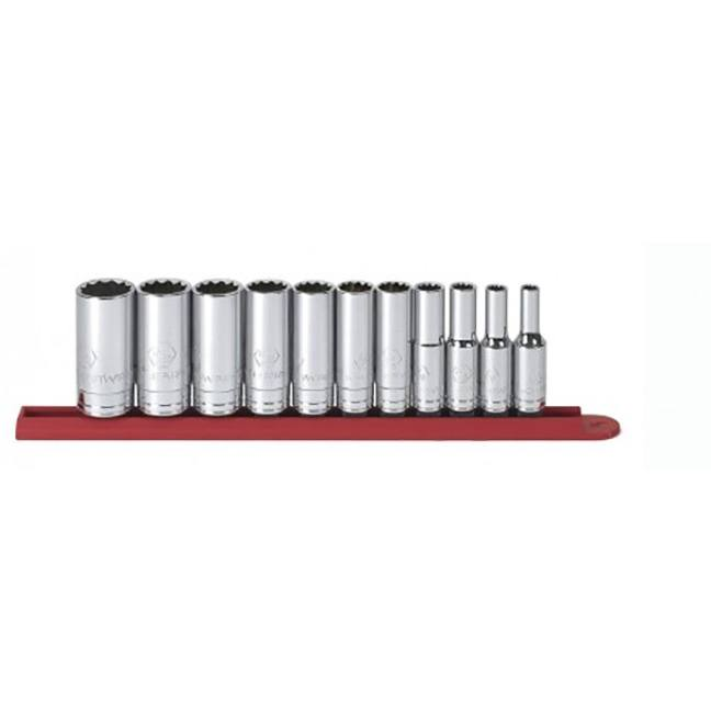 "GearWrench 80563 11-Piece 3/8"" Drive 12 Point Deep SAE Socket Set"