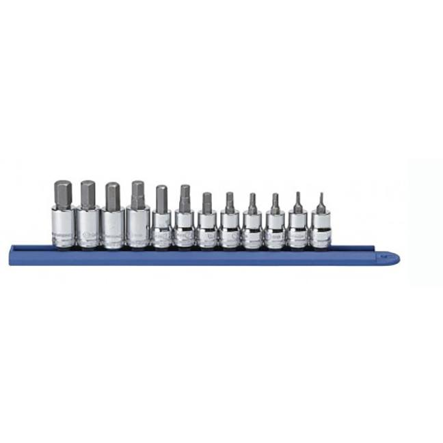 "GearWrench 80580 12-Piece 3/8"" Drive Hex Bit Metric Socket Set"