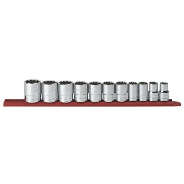 """GearWrench 80711 11-Piece 1/2"""" Drive 12-Point Standard SAE Socket Set"""
