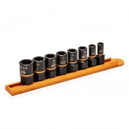 """GearWrench 84782 8-Piece 1/4"""" & 3/8"""" Drive Bolt Biter™ Impact Extraction Socket Set"""