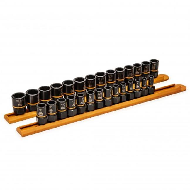 """GearWrench 84784 28-Piece 1/4"""" & 3/8"""" Drive Bolt Biter™ Impact Extraction Socket Set"""