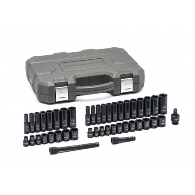 "GearWrench 84916N 44-Piece 3/8"" Drive 6-Point Standard & Deep Impact SAE/Metric Socket Set"
