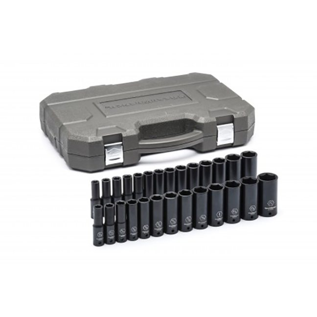"""GearWrench 84949N 27-Piece 1/2"""" Drive 6-Point Deep SAE/MetricImpactSocket Set"""