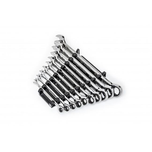 GearWrench 86958 10-Piece 90-Tooth 12-Point SAE Ratcheting Combination Wrench Set