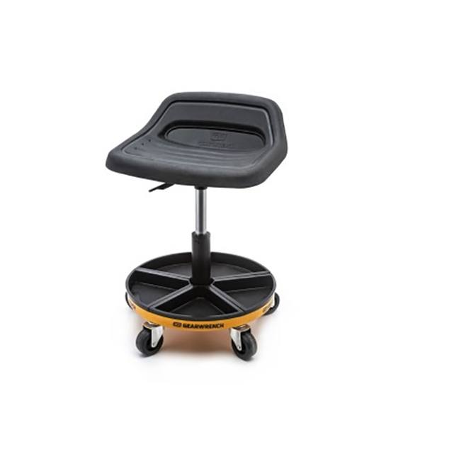 "GearWrench 86994 Adjustable Height Swivel Mechanics Seat 18"" to 22"""