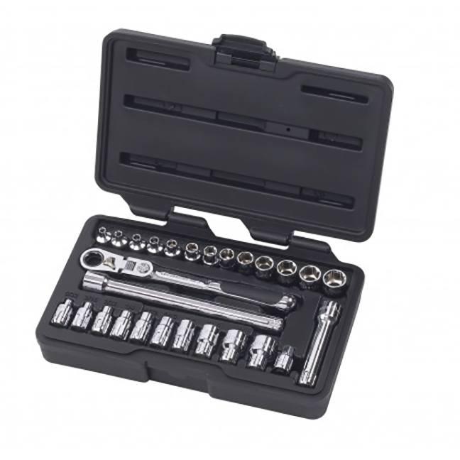 "GearWrench 891427 27-Piece 1/4"" Drive Pass-Thru™ 6 Point SAE/Metric Mechanics Tool Set"