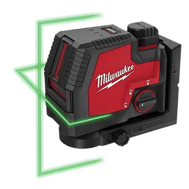 Milwaukee 3521-21 USB Rechargeable Green Cross Line Laser