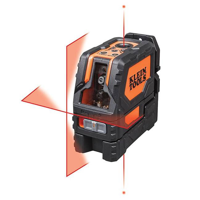Klein 93LCLS Self-Leveling Cross-Line Level with Plumb Spot