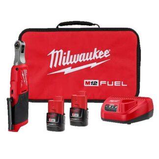 "Milwaukee 2566-22 M12 FUEL 1/4"" High Speed Ratchet Kit"