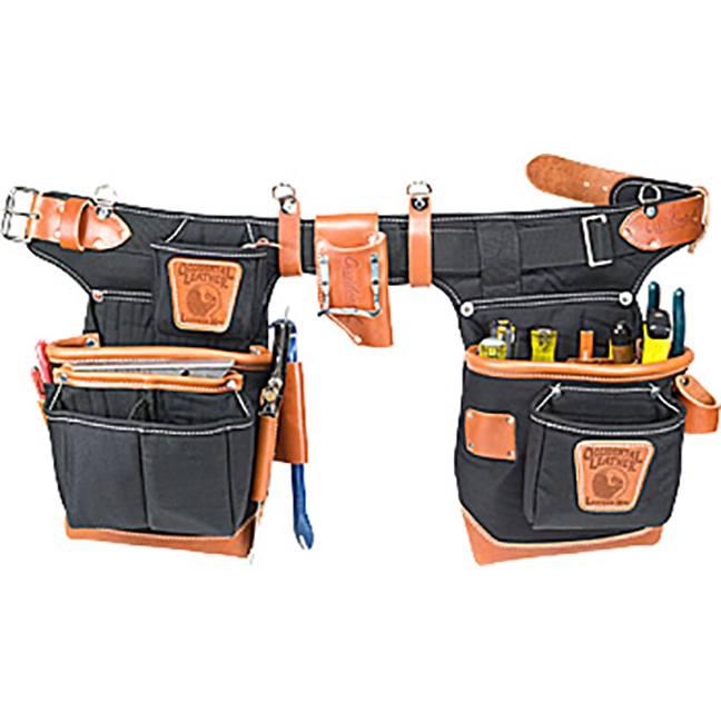 Occidental Leather 9850 Adjust-to-Fit™ Fat Lip™ Tool Bag Set - Black