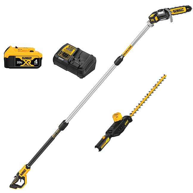 DeWalt DCKO86M1 20V MAX Pole Saw and Pole Hedge Trimmer Combo Kit