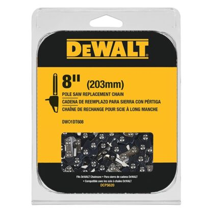 "DeWalt DWO1DT608 8"" Pole Saw Replacement Chain for DCS620"
