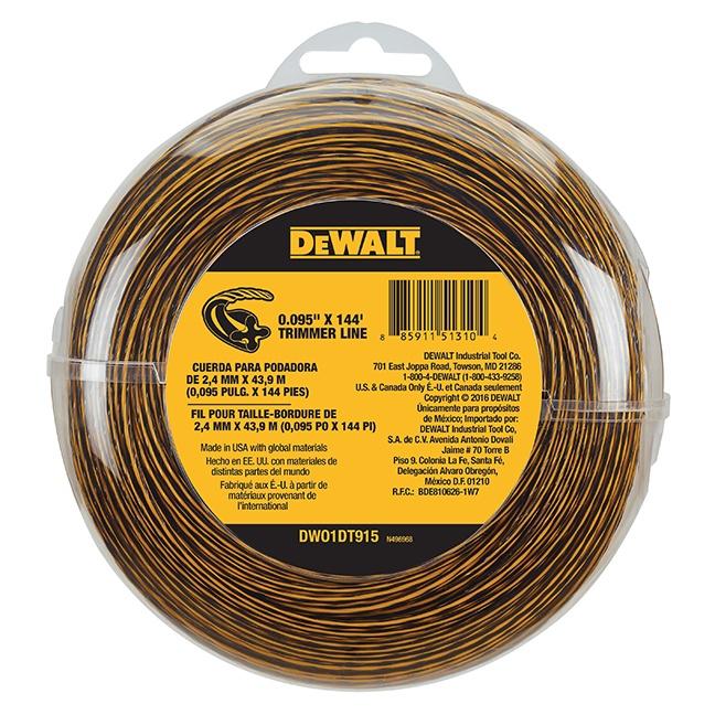 "DeWalt DWO1DT915 0.095"" x 144 ft. Trimmer Line Spool"