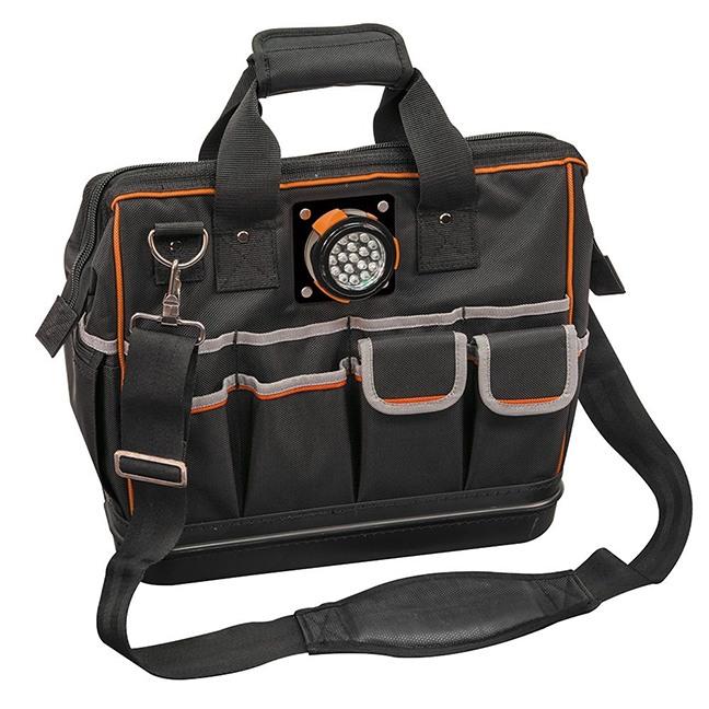 "Klein 55431 Tradesman Pro™ Lighted Tool Bag 31 Pockets 15"""