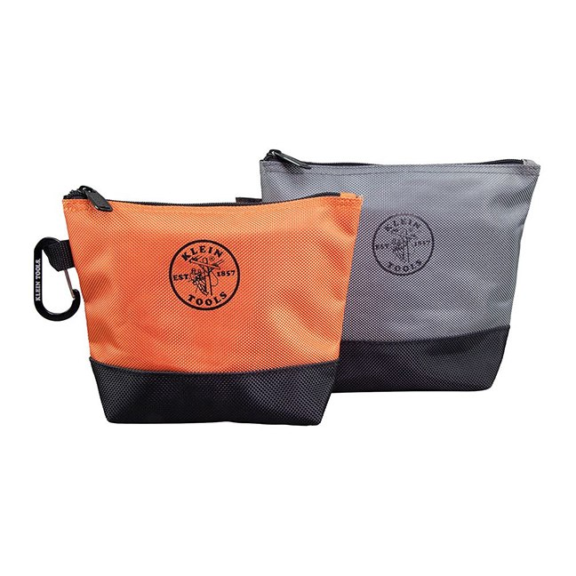 Klein 55470 Zipper Bag Stand-Up Tool Pouch 2-Pack