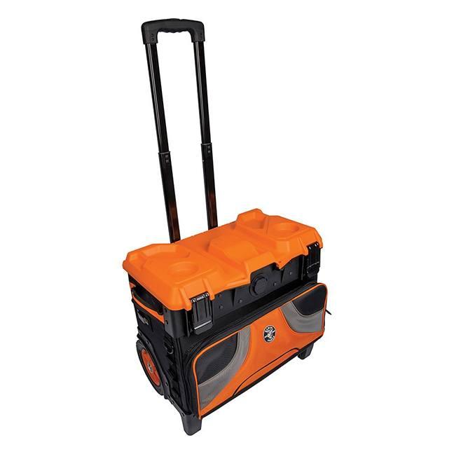 "Klein 55473RTB Tradesman Pro Tool Master Rolling Tool Bag 19 Pockets 22"""