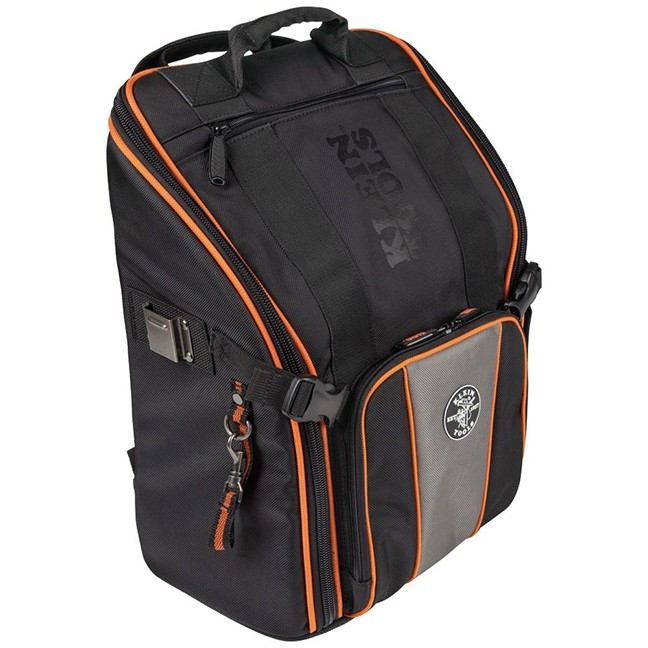 """Klein 55655 Tradesman Pro™ Tool Station Tool Bag Backpack with Worklight 21 Pockets 17.25"""""""