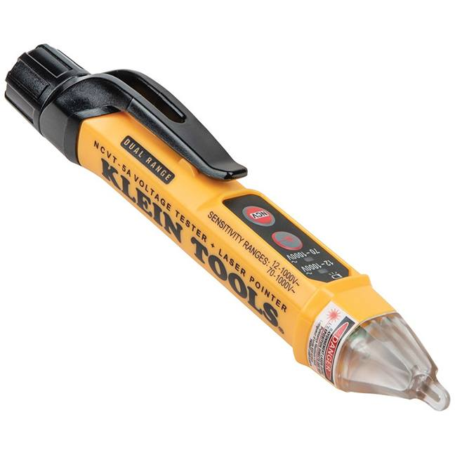 Klein NCVT-5A Dual Range Non-Contact Voltage Tester Pen with Laser Pointer
