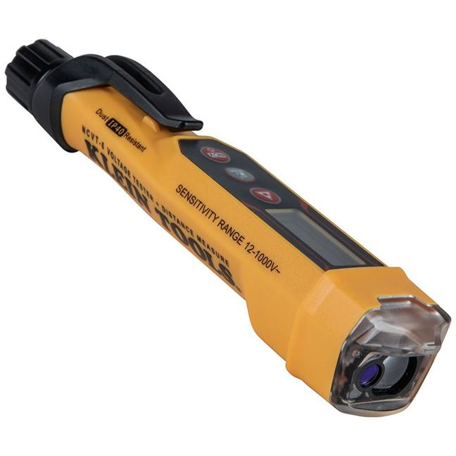 Klein NCVT-6 Non-Contact Voltage Tester Pen with Laser Distance Meter - 12 to 1000V AC