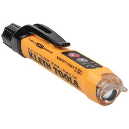 Klein NCVT3P Dual Range Non-Contact Voltage Tester with Flashlight - 12 to 1000V AC