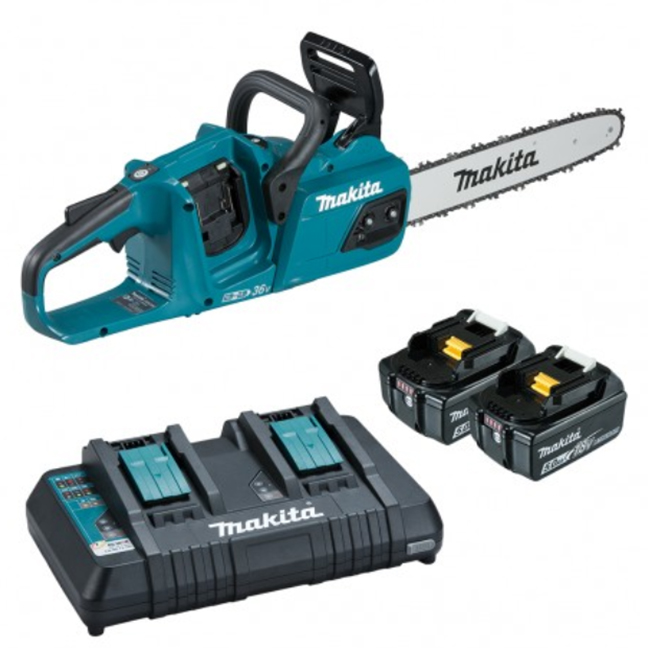 "Makita DUC355PT2 14"" Rear Handle 18Vx2 Brushless Chainsaw Kit"