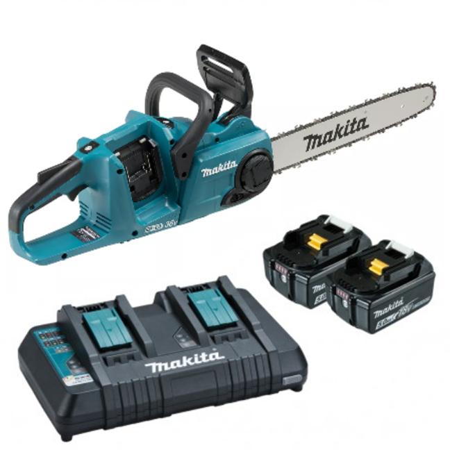 "Makita DUC400PT2 18Vx2 Brushless Chainsaw 16"" Rear Handle Kit"