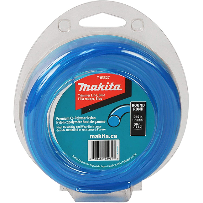 """Makita T-03327 Round Trimmer Line 0.065"""" x 50ft Loop - Blue"""