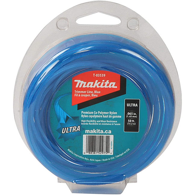 "Makita T-03539 Ultra Trimmer Line 0.065"" x 50ft Loop - Blue"