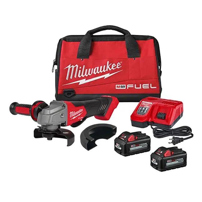 "Milwaukee 2880-22 M18 FUEL 4-1/2"" / 5"" Grinder Kit - Paddle Switch, No-Lock"