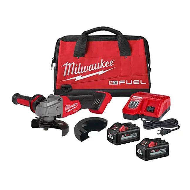 """Milwaukee 2881-22 M18 FUEL 4-1/2"""" / 5"""" Grinder Kit - Slide Switch, Lock-On"""