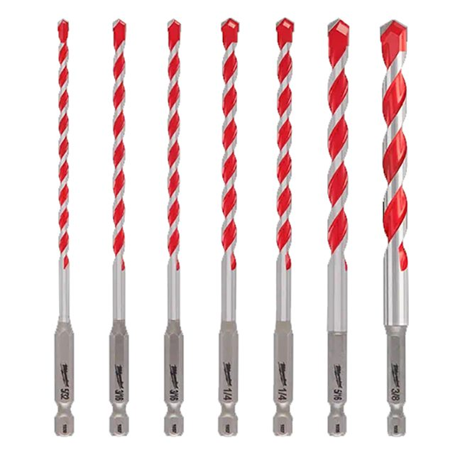 Milwaukee 48-20-9052 7-Piece SHOCKWAVE™ Carbide Hammer Drill Bit Kit