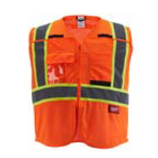Milwaukee Class 2 Breakaway High Visibility Orange Mesh Safety Vest